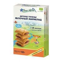 Fleur Alpine Organic печенье детское Яблочный мармелад 18 мес. 150 г