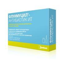 Флуимуцил-антибиотик ИТлиофилизат д/р-ра для иньекций и ингаляций 500 мг флаконы 3 шт.