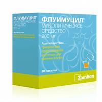 Флуимуцил гранулы для р-ра для приема внутрь 200 мг саше 20 шт.