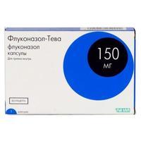 Флуконазол-тева капсулы 150 мг, 1 шт.