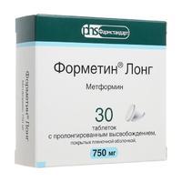 Форметин Лонг таблетки с пролонг. высвоб.750 мг 30 шт.