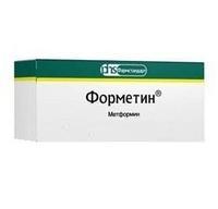 Форметин таблетки 500 мг, 30 шт.