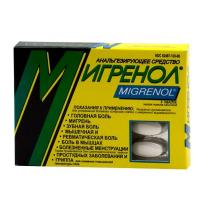 Мигренол таблетки, 8 шт.