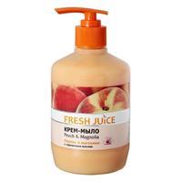 Fresh Juice Жидкое Крем-мыло 30% увлажн. Молочка Персик и Магнолия (Peach & Magnolia), 460 мл