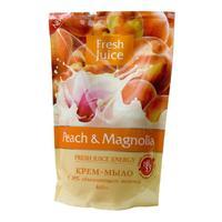 Fresh Juice Жидкое Крем-мыло 30% увлажн. Молочка Персик и Магнолия (Peach & Magnolia), 460 наполнит