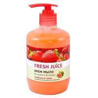 Fresh Juice Жидкое Крем-мыло Клубника и Гуава (Strawberry & Guava), 460 мл