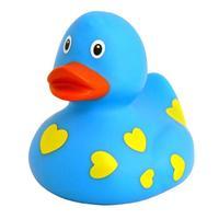 Funny Ducks Игрушка для ванны Уточка голубая в сердечках 1 шт.