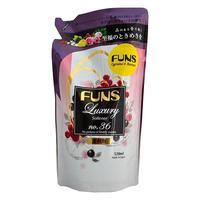 Funs кондиционер парфюмированный для белья с ароматом грейпфрута и черной смородины 520 мл запасной блок
