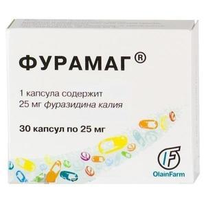Фурамаг капсулы 25 мг, 30 шт.