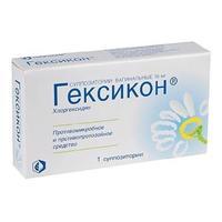 Гексикон суппозитории вагинальные 16 мг 1 шт.