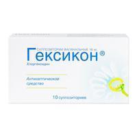 Гексикон суппозитории вагинальные 16 мг 10 шт.