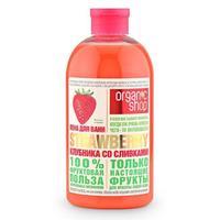 Гель-крем для душа Organic Shop Фрукты клубника со сливками 500 мл