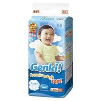 Genki Premium Soft Подгузники для мальчиков и девочек L (9-14 кг) 54 шт.