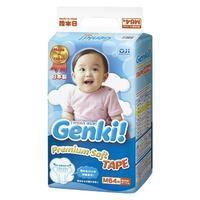 Genki Premium Soft Подгузники для мальчиков и девочек M (6-11 кг) 64 шт.