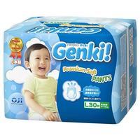 Genki Premium Soft Трусики для мальчиков и девочек L (9-14 кг) 30 шт.