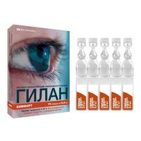 Гилан Комфорт р-р офтальмолог увлажн 0,18% 0,4мл тюб-кап 10 шт.