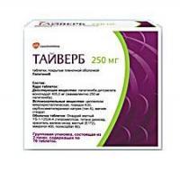 Тайверб таблетки 250 мг, 140 шт.