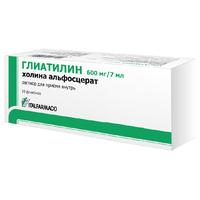 Глиатилин раствор для приема внутрь 600 мг/7 мл 7 мл флаконы 10 шт.