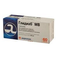 Глидиаб мв таблетки 30 мг, 60 шт.