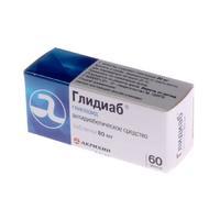 Глидиаб таблетки 80 мг, 60 шт.
