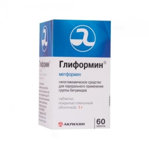 Глиформин таблетки 1000 мг, 60 шт.