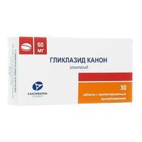 Гликлазид Канон таблетки с пролонг. высвобождением 60 мг 30 шт.