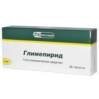 Глимепирид таблетки 3 мг, 30 шт.