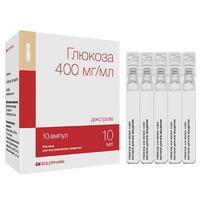 Глюкоза-СОЛОфарм Политвист р-р для в/вен. введ. 400 мг/мл 10 мл ампулы 10 шт.