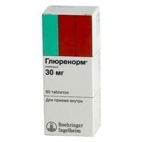 Глюренорм таблетки 30 мг, 60 шт.