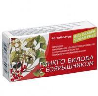 Гинкго билоба с боярышником таблетки, 40 шт.