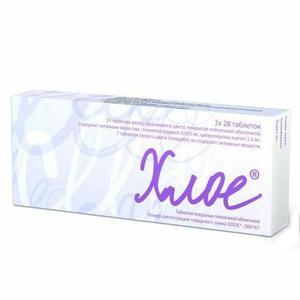 Хлое таблетки 35 мкг+2 мг, 84 шт.