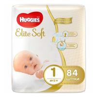 Huggies Подгузники Elite Soft 1 до 5 кг 84шт
