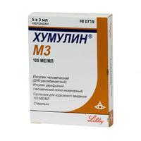 Хумулин М3 картриджи 100 МЕ/мл, 3 мл в шприц-ручке КвикПен, 5