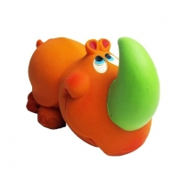 Игрушка Lanco латексная в инд.упак. Носорог-малыш плюшевый 1 шт.