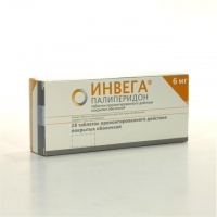 Инвега таблетки пролонгированного действия 6 мг, 28 шт.