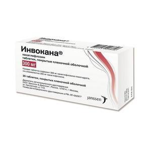 Инвокана таблетки покрыт.плен.об. 300 мг 30 шт. упак.