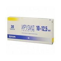 Ирузид таблетки 10 мг+12,5 мг, 30 шт.