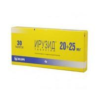 Ирузид таблетки 20 мг+25 мг, 30 шт.