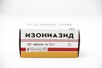 Изониазид таблетки 300 мг, 100 шт.