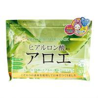 Japan Gals курс натуральных масок для лица с экстрактом алоэ 30 шт.