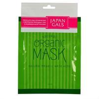 Japan Gals маски для лица органические с экстрактом природных трав 1 шт.