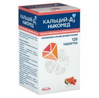 Кальций-Д3 Никомед таблетки жевательные клубника-арбуз 120 шт.