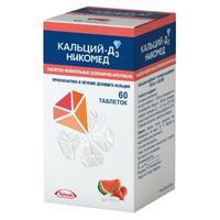 Кальций-Д3 Никомед таблетки жевательные клубника-арбуз 60 шт.