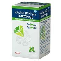 Кальций-Д3 Никомед таблетки жевательные мята 60 шт.