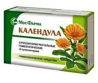 Календула суппозитории ректальные гомеопатические 10 шт.