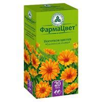 Ноготков цветки фильтрпакетики, 1,5 г, 20 шт.