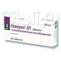 Камирен XL таблетки 4 мг, 30 шт.