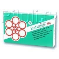 Кандид-В6 таблетки вагинальные 100 мг, 6 шт.