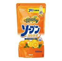 Kaneyo средство для мытья посуды,овощей и фруктов сладкий апельсин 500 мл зап блок 500 мл +запасной блок
