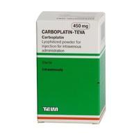 Карбоплатин-Тева лиофилизат для пригот. р-ра для инфузий 450 мг 1 шт.